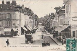 COMPIEGNE (60). Rue De Solférino, Prise De Pont. Magasins: Boulangerie-Patisserie, Masseur-Pédicure Berton. Attelage - Compiegne