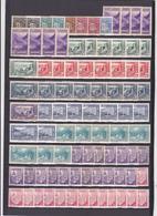 UN LOT DE 196 TIMBRES NEUFS**, NEUFS*, NSG, OBLITéRéS DONT MULTIPLES - Collections