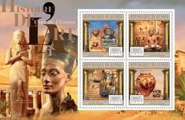 Guinea, 2011. [gu11505] History Of Art, Egypt (s\s+block) - Arts
