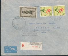 RUANDA URUNDI REGISTERED COVER FROM USUMBURA 1955 TO ITALY - Ruanda
