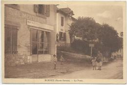 74.  MORNEX.  LA POSTE ET LE MAGASIN D ALIMENTATION - France