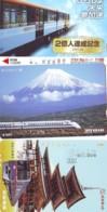 3 Carte Prépayée JAPON Différentes * CHEMIN DE FER (LOT TRAIN A-412) JAPAN * 3 TRAIN DIFFERENT PHONECARDS - Eisenbahnen