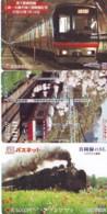 3 Carte Prépayée JAPON Différentes * CHEMIN DE FER (LOT TRAIN A-422 JAPAN * 3 TRAIN DIFFERENT PHONECARDS - Eisenbahnen