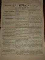 La Semaine Des Constructeurs. N°23. 7 Décembre 1878. Couverture De La Salle Des Fêtes Au Trocadéro. - Libri, Riviste, Fumetti