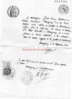 Lettre Manuscrite Pour Bon Travail  Beaugency Giros Loiret Berthe Camille Petit 1940 Timbre Fiscal 1,5 Fr - Documents Historiques