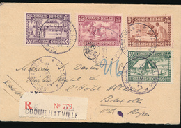 BELGIAN CONGO REGISTERED COVER FROM COQUILHATVILLE 27.12.31 TO BRUSSELS - 1923-44: Briefe U. Dokumente