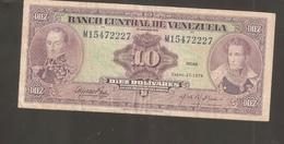 VENEZUELA 10 BOLIVARES 1976 - Venezuela