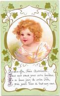 Frimousse D'enfant Aux Cheveux Blonds Bouclé + Poëme - Portraits