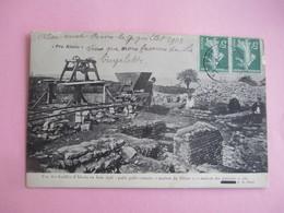 PRO ALESIA_Puits Gallo Romain_maison Du Silene Maison Des Poteries_voyagé En 1918_TBE - Otros Municipios