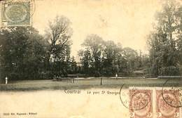 026 209- CPA - Belgique -  Kortrijk - Courtrai - Le Parc St Georges - Kortrijk
