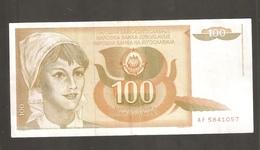 JUGOSLAVIA 100 DINARI - Jugoslavia