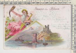 Gruss Vom RHEIN écrite 1900 - Gruss Aus.../ Gruesse Aus...