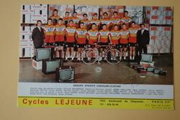 CYCLISME: CYCLISTE : GROUPE SONOLOR AVEC QUELQUES SIGNATURES - Ciclismo