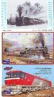 3 Carte Prépayée JAPON Différentes * CHEMIN DE FER (LOT TRAIN A-433 JAPAN * 3 TRAIN DIFFERENT PHONECARDS - Eisenbahnen