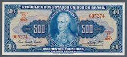 Brésil P 172a  500 Cruzeiros 1961 ( Pick 164d)   UNC  Série 329 N° 005274 - Brazil