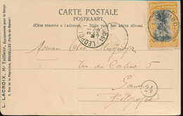 BELGIAN CONGO PC FROM LUSAMBO 1906 TO GENT - 1894-1923 Mols: Covers