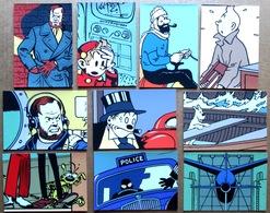 Etat Neuf > Archives Internationales : 10 Cartes En Sérigraphie (Blake Et Mortimer, Spirou, Tintin, Illico) - Sérigraphies & Lithographies