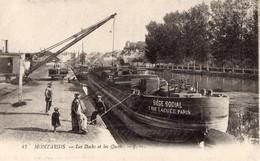 CPA Batellerie - 45 - MONTARGIS - Les Docks Et  Et Les Quais - Péniches, Bateliers - Montargis