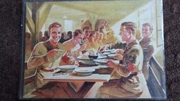 CPSM DIE POFTKARTE DES REICHSARBEITSDIENFTES SOLDATS NAZI GUERRE 40 EN TRAIN DE MANGER REPAS - Guerre 1939-45