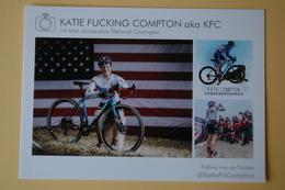 CYCLISME: CYCLISTE : KATIE COMPTON - Cyclisme