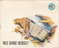 INAUGURACION DIQUE VALLE GRANDE - MENDOZA. OBLIT SAN RAFAEL, ARGENTINA AÑO 1955. CON PROGRAMA DE ACTO -LILHU - Booklets