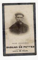 Bidprentje Oorlog Guerre War WOI Basilius DE PETTER Zele Opgeëiste Werkloze +26-06-1918 Gevallen Borsbeke - Images Religieuses