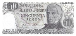 Argentina (BCRA) 50 Pesos ND (1982) Series B UNC Cat No. P-301b / AR354c - Argentine