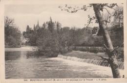 L16-49) MONTREUIL BELLAY (MAINE ET LOIRE) UN PAYSAGE SUR LE THOUET - (2 SCANS) - Montreuil Bellay