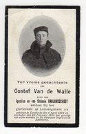 Bidprentje Oorlog Guerre War WOI Gustaf VAN DE WALLE Oostkerke Soldaat 9de Linie+28-02-1916 Gesneuveld De Panne - Images Religieuses