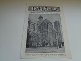 """Origineel Knipsel ( 2189 ) Uit Tijdschrift """" Ons Volk """"  1928 :    Grimbergen   6 Blz. - Old Paper"""
