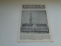 """Origineel Knipsel ( 2190 ) Uit Tijdschrift """" Ons Volk """"  1928 : Nieuwe Boekerij Der Leuvense Universiteit Leuven Louvain - Vieux Papiers"""