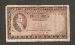 CECOSLOVACCHIA 500 KORUN 1946 - Cecoslovacchia