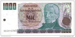 Argentina (BCRA) 1000 Pesos Argentinos ND (1984) Series D UNC Cat No. P-317b / AR370c - Argentina