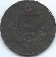 Jersey - 1866 - Victoria - 1/26 Shilling - Small Hole - KM4 - Jersey