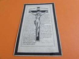 DOODSPRENTJE  JOANNES-BAPTISTA OPDEBEECK - Images Religieuses