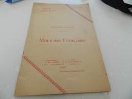 Monnaies  Française   Collection  A  Laffon 3 Mai  1912    Rue  Drouot   Vente  Aux Encheres   Publiques - Livres & Logiciels