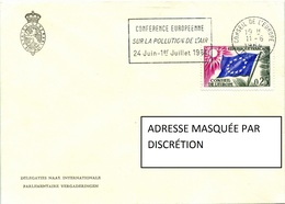 Enveloppe De France (Strasbourg) (1964) - Conseil De L'Europe - Conférence Pollution De L'Air - Briefe U. Dokumente
