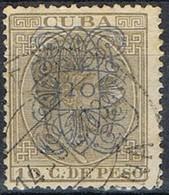 Sello Arabescos O Arañitas, 10 C Sobre 10 C, CUBA Colonia Española 1883, Num 82 º - Cuba (1874-1898)