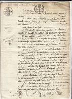 Acte Notarié Fév 1827 / Vente D'une étude De Notaire ! à La Résidence De Chevreuse - Cachets Généralité