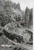 AK 0469  Dampfeisenbahn ( Wir Kommen ) / Ostalgie , DDR Um 1977 - Trains