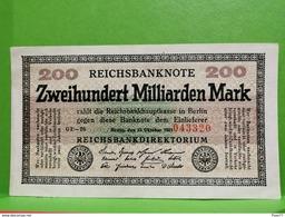 Zweihundert Milliarden Mark, 1923, TTB+++ - [ 3] 1918-1933 : République De Weimar