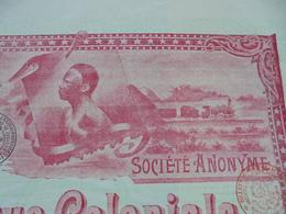 BELGIQUE - BRUXELLES 1899 - BANQUE COLONIALE DE BELGIQUE - ACTION DE DIVIDENDE - Shareholdings