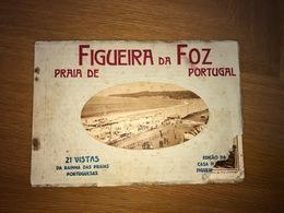 Album / Caderneta 21 Vistas Da PRAIA DA FIGUEIRA DA FOZ. Lot / Carnet PORTUGAL - Coimbra