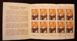 FRANCE CARNET ERINNOFILIE COMITÉ NATIONAL DE DÉFENSE CONTRE LA TUBERCOLOSE - DU LAIT CHAQUE JOUR - Commemorative Labels