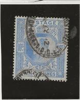 GRANDE BRETAGNE - TIMBRE N° 120 OBLITERE LEGERE TRACE DE PLI AU DOS -ANNEE 1902-10 - COTE : 425 € - Gebraucht