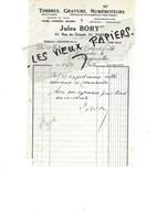75 - Paris - PARIS-4e - Facture BORY - Timbres, Gravure, Numéroteurs - 1936 - REF 143D - 1900 – 1949