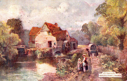 MAPLEDURHAM On THAMES / OXFORDSHIRE : MOULIN à EAU / OLD WATER MILL - OILETTE / RAPHAEL TUCK & SONS ~ 1910 (ae553) - Moulins à Eau