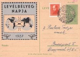 UNGARN - POSTKARTE 1938 TAG DER BRIEFMARKE /ak499 - Hongrie