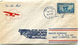 """ETATS-UNIS LETTRE PAR AVION AVEC CACHET ILLUSTRE """"FIRST FLIGHT CAMDEM"""" DEPART CAMDEM SEP 15 1929 N. J. POUR LES......... - 1c. 1918-1940 Covers"""