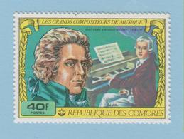 J.P.S.7 - Musique - Timbre - Compositeur - N° 9 - Comores - Mozart - N° Yvert 213 - Musique